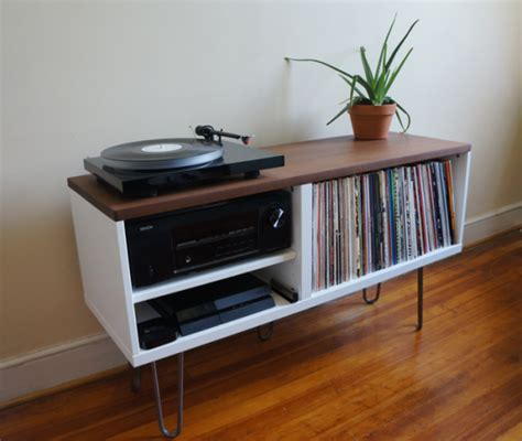 record player table ikea mid century modern record console ikea hackers ikea