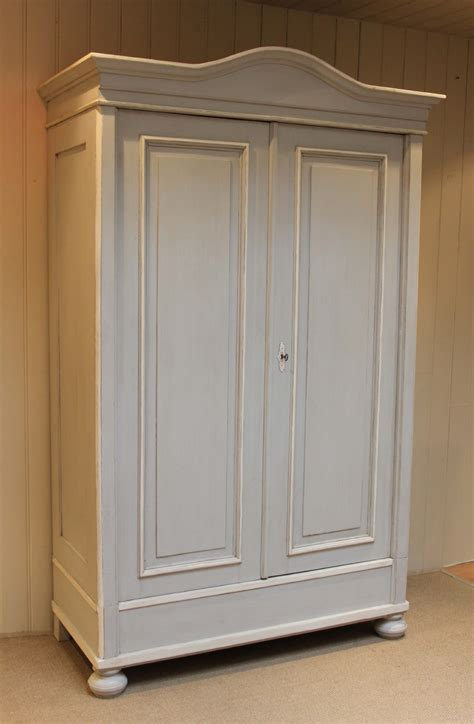 Large Wardrobe by Large Continental Painted Pine Wardrobe 244295 Sellingantiques Co Uk