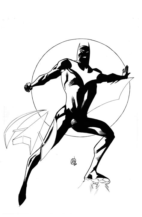 cool batman coloring pages batman beyond by theadriannelson on deviantart