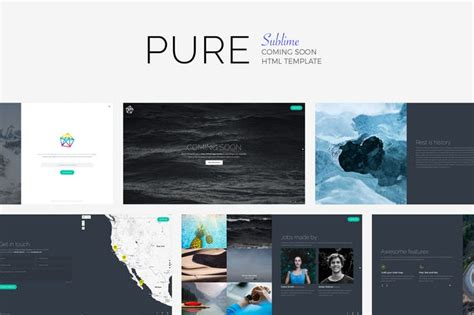 pure sublime coming soon template by madeon08 on envato