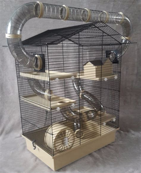 large cage large cage for hamster mouse or gerbil with accessories beige 163 37 95 picclick uk
