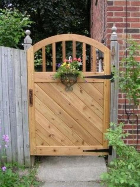 backyard gate lock garden gate in western cedar with forged iron hardware by jetnum lumberjocks com