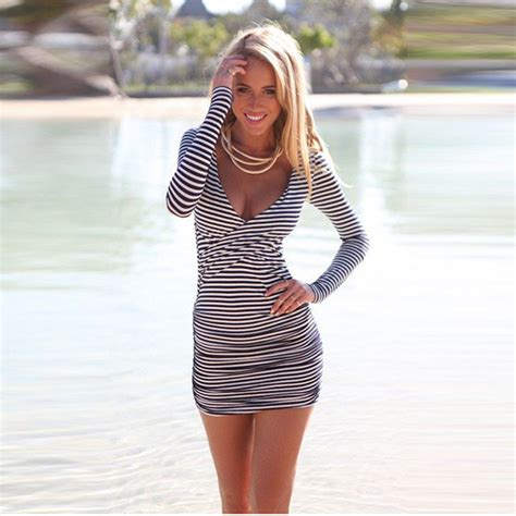 26685 Big Stripe Top Or Dress Tights Style Tight Black Tight Dress Black And White