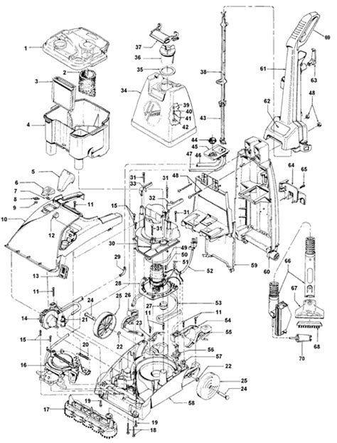 hoover steamvac parts diagram hoover f5853 carpet cleaner parts