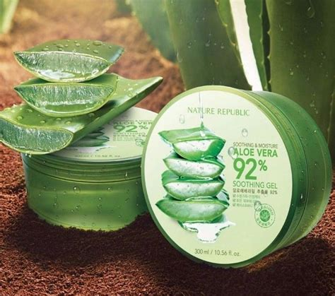 Nature Republic Aloe Vera 92 Soothing Gel Review review gel nha 苟am nature republic soothing moisture aloe