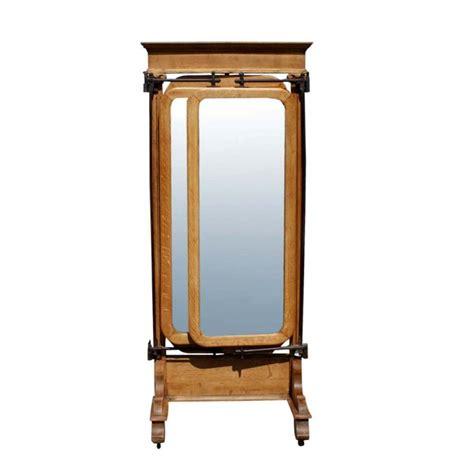 Length Mirror Dresser by American Empire Oak Dressing Mirror At 1stdibs