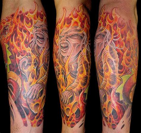 star with flames tattoo designs disasters and tattoos