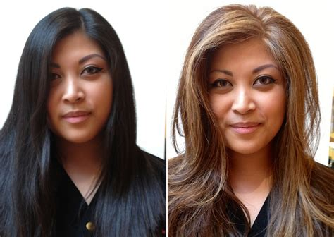 before and after hair color pictures hair color before and after turned out lovely