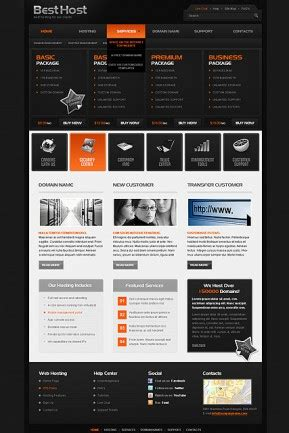 best host web hosting templates from www bootstrap template