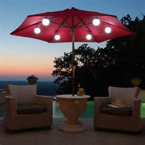 Patio Umbrella With Lights 27 Wonderful Patio Umbrella String Lights Pixelmari