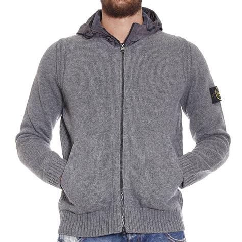 knitted sweatshirt island linen fleece zip knit sweatshirt jacket