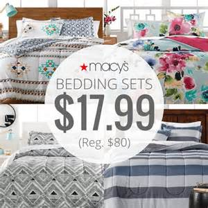 Macy S Baby Bedding Sets Macy S 3 Bed In Bag Bedding Sets Only 17 99