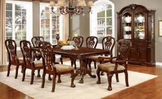 Cherry Dining Room Furniture Elana Cherry Extendable Rectangular Dining Room Set From Furniture Of America Coleman Furniture