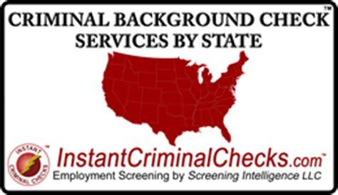 Criminal Background Check Services Criminal Background Check Services By State