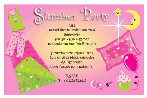 sleepover invitation template invitation templates