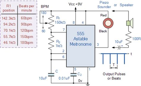 resistor calculator for 555 timer 555 timer astable circuit calculator electrical engineering electronics tools