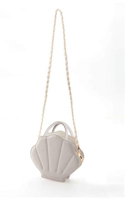 Handbag Mermaid mermaid whimsy sea shell purse in pearl white sincerely