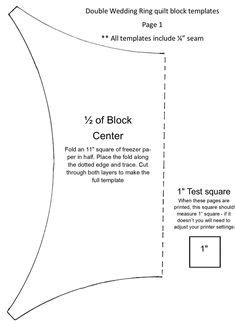 Precut Double Wedding Ring Kit | Double wedding ring quilt