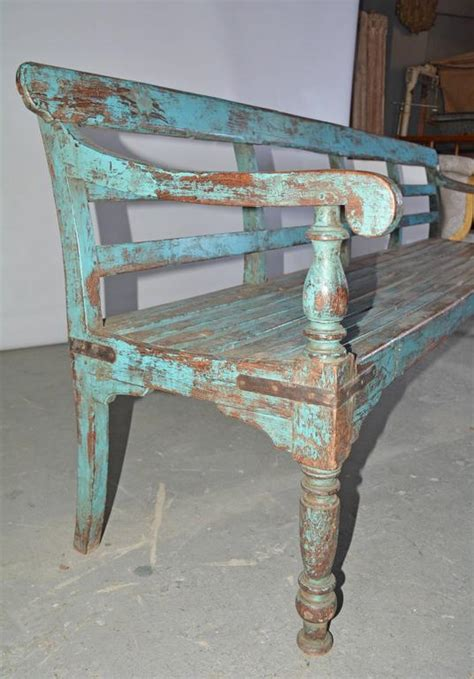 painted wooden garden bench antique painted teak wood garden bench at 1stdibs