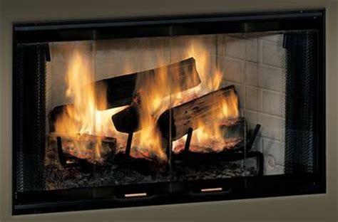 glass doors for wood burning fireplace monessen standard bi fold glass fireplace doors with black