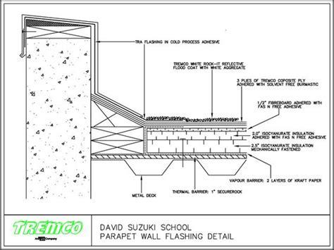 parapet detail section concrete parapet detail google search bdcs pinterest