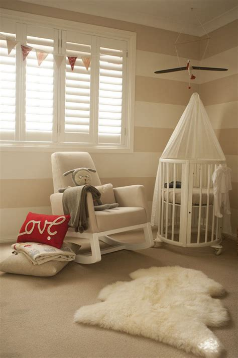 neutral warm nursery room ideas
