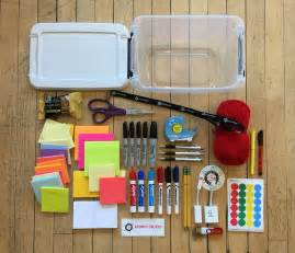 design thinking kit a supply list for your next design thinking workshop