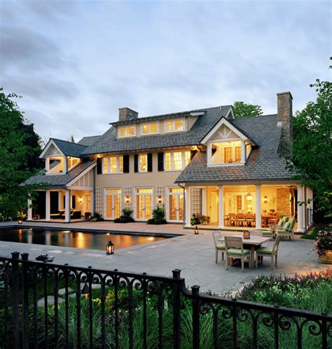 Ranch House Plans With Walkout Basement Westchester Colonial Traditional Exterior