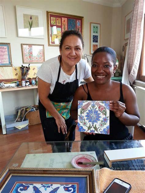 carisha swanson turkish arts turkish arts workshops in istanbul ebru marbling paper art iznik tile painting