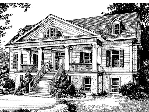 revival house plans southern revival home