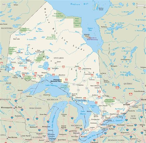 map of ontario and canada ontario highway map