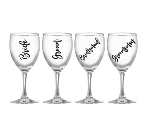 wedding glass decals personalised wine glass decals