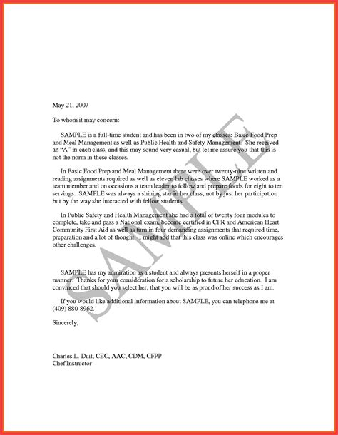 simple letter of recommendation letter of recommendation