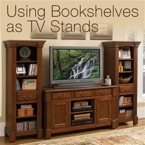 using bookshelves as tv stands officefurniture
