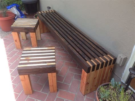 ana white bench  side tables diy projects