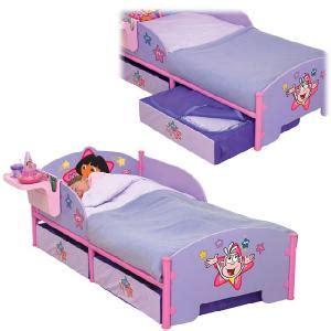 dora toddler bed dora storage