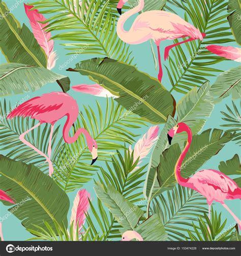 imagenes para fondo de pantalla verano tropical vector patr 243 n de verano de flamenco y floral