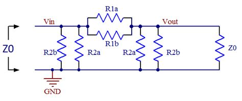 resistor values for attenuator axotron