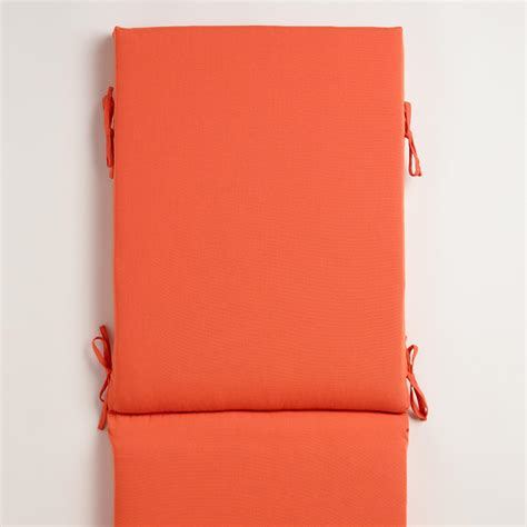 orange chaise lounge cushions orange outdoor chaise lounge cushion world market