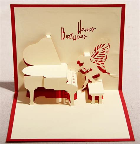 3d Keepsake Card Templates by Piano 3d Pop Up Gift Greeting 3d Blessing Cards