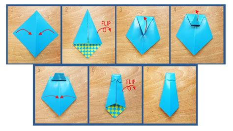 Origami Tie - make the coolest card for s day ride