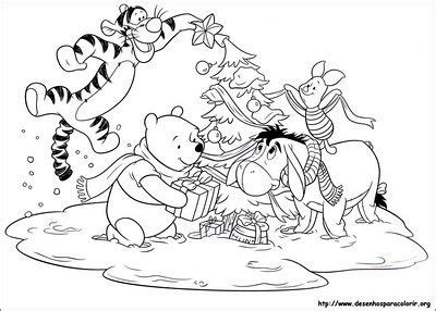 winnie  pooh  friends coloring pages christmas