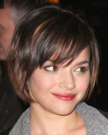 hairstyles for round face straight hair short haircuts for straight hair and round faces because