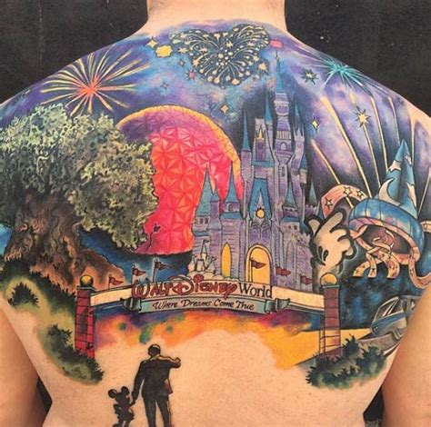 33 exquisite disney castle tattoo designs tattooblend