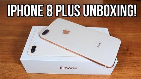 unboxing iphone 8 plus gold 256gb