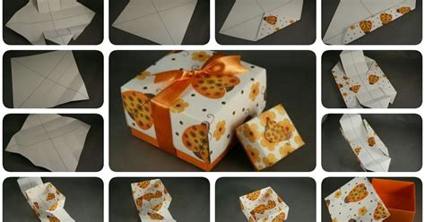 membuat gift box unik cara mudah membuat box hadiah dari kertas
