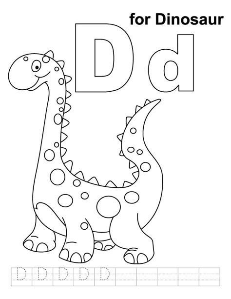 Letter D Dinosaur Coloring Page | geography blog letter d coloring pages