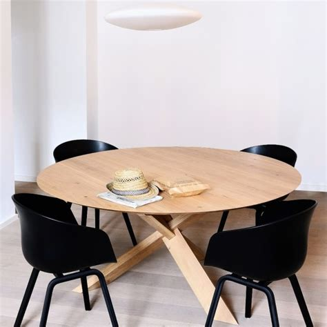 ethnicraft oak circle dining table contemporary dining - Modern Dining Tables Melbourne