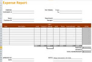 free expense report templates expense report template in excel