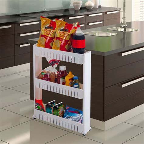 Slim Pantry by Three Tier Slim Slide Out Pantry On Rollers 5 Quot Wide